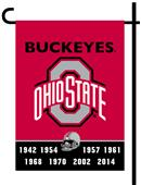 Collegiate Ohio State 2-Sided Garden Flag