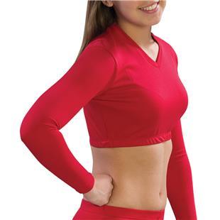 Pizzazz Cheerleaders Body Basics V-Neck Crop Tops