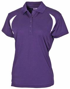 Baw Ladies Colorblock Cool-Tek Polo. Embroidery is available on this item.