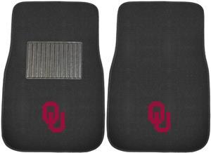 Fan Mats NCAA Oklahoma Embroidered Car Mats (set)
