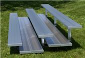 National Series 3 Row Non Elevated Aluminum Bleachers 72 HOUR FAST SHIP
