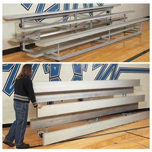 Bison All Aluminum Easy Store Indoor Bleachers