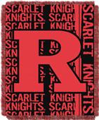 Northwest Rutgers Double Play Jaquard Throw