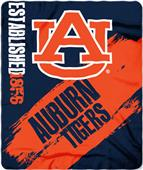 Northwest Auburn Painted Fleece Throw