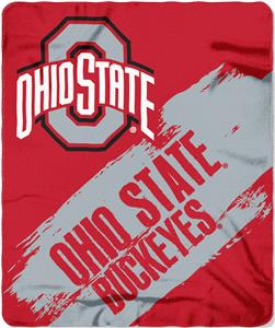 Northwest Ohio State Painted Fleece Throw