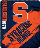 Northwest Syracuse Painted Fleece Throw