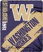 Northwest Washington Painted Fleece Throw