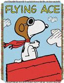 Northwest Peanuts Flying Ace Woven Tapestry Throw