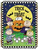 Northwest Peanuts Spooky Gang Woven Tapestry Throw
