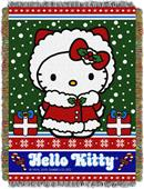 Northwest Snowy Kitty Woven Tapestry Throw