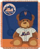 Northwest MLB Mets Field Bear Baby Throw
