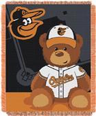 Northwest MLB Orioles Field Bear Baby Throw