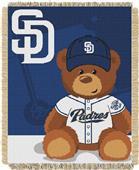 Northwest MLB Padres Field Bear Baby Throw