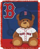 Northwest MLB Red Sox Field Bear Baby Throw