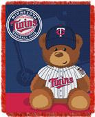 Northwest MLB Twins Field Bear Baby Throw