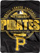 Northwest MLB Pirates Structure Raschel Throw