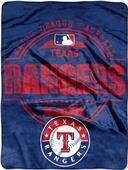 Northwest MLB Rangers Structure Raschel Throw