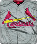 Northwest MLB Cardinals Jersey Raschel Throw