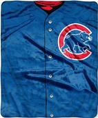 Northwest MLB Cubs Jersey Raschel Throw