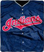 Northwest MLB Indians Jersey Raschel Throw