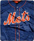 Northwest MLB Mets Jersey Raschel Throw