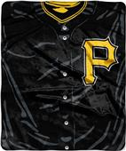 Northwest MLB Pirates Jersey Raschel Throw