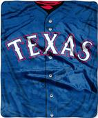 Northwest MLB Rangers Jersey Raschel Throw