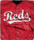 Northwest MLB Reds Jersey Raschel Throw