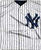 Northwest MLB Yankees Jersey Raschel Throw