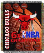 Northwest NBA Bulls Commemorative Taprestry Throw