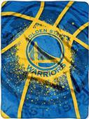 Northwest NBA Warriors Shadow Play Raschel Throw