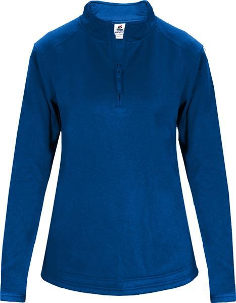 cf1a0640cdc Badger Sport 1 4 Zip Poly Fleece Ladies Pullover