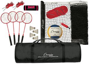 Champion Sports Deluxe Volleyball/Badminton Set ...