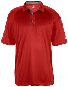 Badger Mens Ultimate Polo Shirt. Embroidery is available on this item.