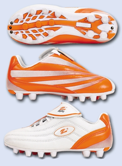 orange football cleats for youth