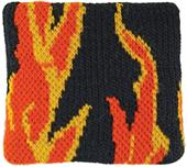 Red Lion Flames Wristbands PAIR