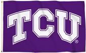 Collegiate TCU Logo 3'x5' Flag w/Grommets
