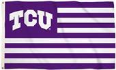 Collegiate TCU Stripes 3'x5' Flag w/Grommets