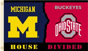 Collegiate Michigan Ohio St Rivalry House Flag Soccer Equipment And Gear