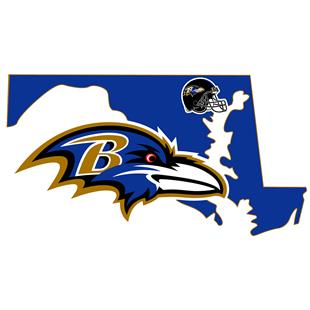 NFL Baltimore Ravens Home State Decal