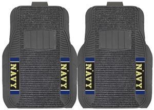 Fan Mats NCAA US Naval Academy Deluxe Car Mat Set