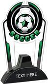 "Hasty 7.5"" Epic TRUacrylic Soccer Trophy"