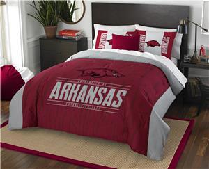 Northwest NCAA Arkansas Full/Queen Comforter/Shams