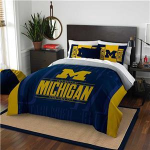 Northwest NCAA Michigan Full/Queen Comforter/Shams