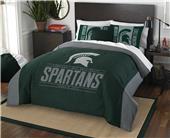 Northwest NCAA Michigan St. F/Q Comforter & Shams