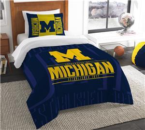 Northwest NCAA Michigan Twin Comforter & Sham