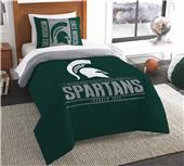 Northwest NCAA Michigan State Twin Comforter/ Sham