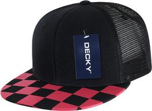 b4d1c2d83a2a0 Decky Checkered Bill Trucker Cap - Soccer Equipment and Gear