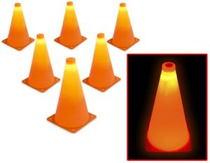 "GoSports 9"" LED Light Up Sports Cone (Set of 6)"