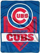 Northwest MLB Cubs Home Plate Raschel Throw